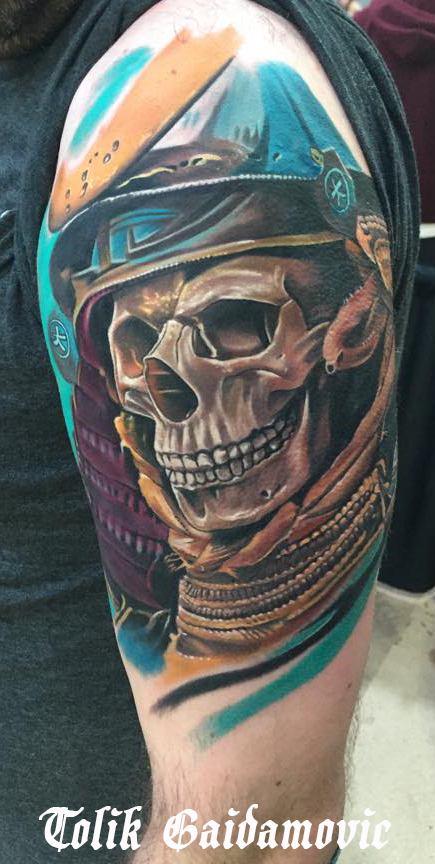 Milton Keynes Tattoo expo 5th edition Large Colour 1st place 2015 winner Tolik Gaidamovic - done @ Inked Moose Tattoo Art Studio